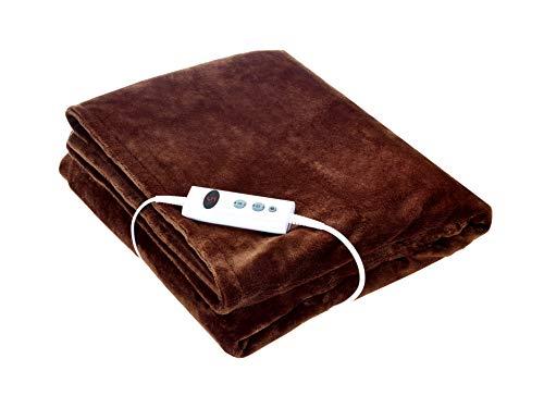 Promed Kuschelheizdecke KHP-2.3, Heizdecke mit Abschaltautomatik, Wärmedecke, XXL-Maße, 180x130cm, 10 Temperaturstufen, 1-9 Std Laufzeit, waschbar, Überhitzungsschutz