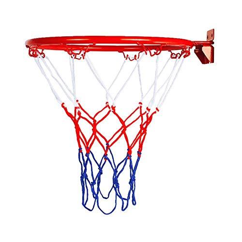 Liery Basketballkorb, Hängender Basketball An Der Wand Befestigter Ziel-Band-Rand Mit Netzschraube Für Draußen Innen