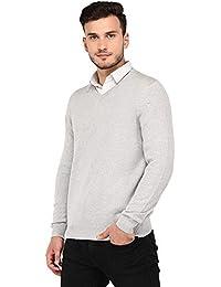 Armisto Plain Super Soft Men's Sweater in Grey Melang (Workwear/Casual Wear/Sports Wear)