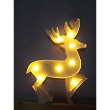 Lámparas decorativas, Decoración Iluminación Lámpara de mesa de luz LED Iluminación de Navidad Decoración de fiesta Lámpara de la habitación de los niños (Fawn)
