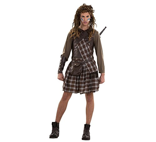 Imagen de disfraz guerrero escocés para hombre