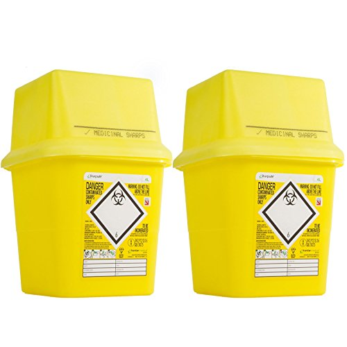 Biohazard Sharps Medizinische Abfalleimer, groß, 4 l, 2 Stück preisvergleich