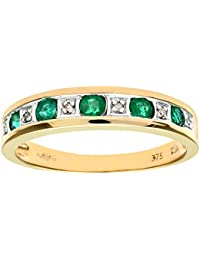 Naava Damen-Ring 9 K 375 Gelbgold Diamant