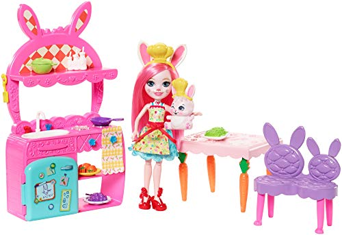 Enchantimals Bunny in funny kitchen, doll with pet and accessories (Mattel FRH47)