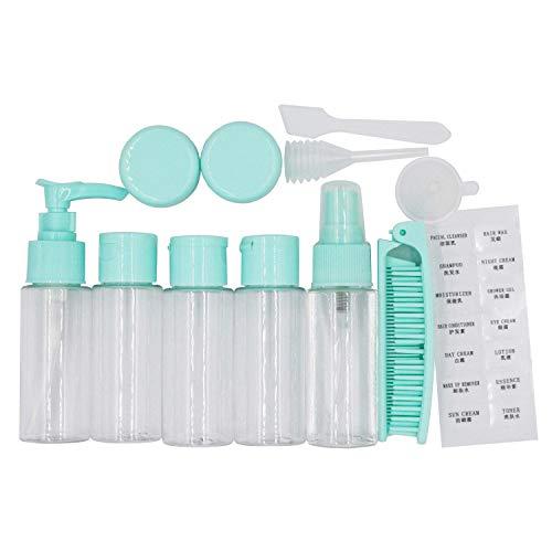 EONPOW Reise Flaschen und Behälter Set für Handgepäck Flüssigkeiten Kosmetik Reiseflaschen...
