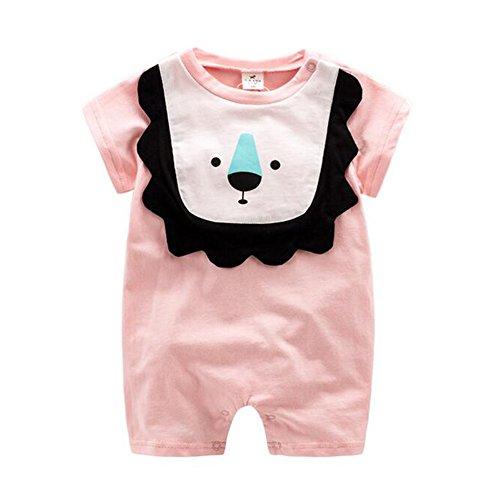Zhuhaixmy Neugeboren Baby Jungen Mädchen Baumwoll Bodysuit Overall Kurzarm T-Shirt Kleider Cute Säugling Outfit