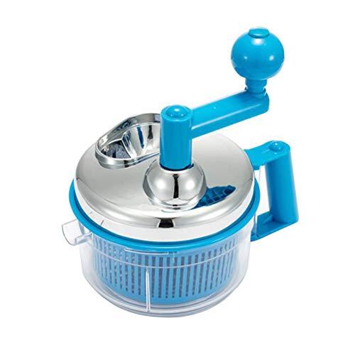BESTONZON Manueller Küchenmaschine handbetriebener Gemüseschneider Fleischwolf Obst Mixer Kurbel Mixer (zufällige Farbe)