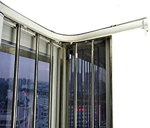 Raumteiler SuperMMarK Flexible biegbare Vorhangschiene gerade Gebogene Deckenschiene Set f/ür obere Seite und Deckenmontage f/ür L-f/örmige U-f/örmige Erkerfenster Duschvorh/änge