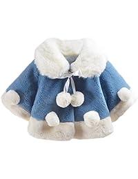 Hawkimin Baby Mädchen Langärmeliger Plüsch Herbst Winter Mantel Jacke Starke Warme Kleidung
