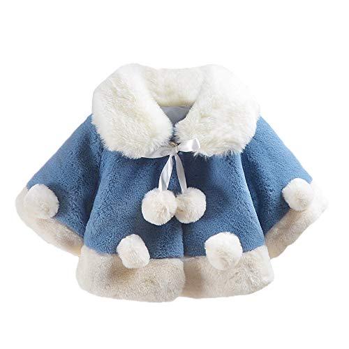 (Modaworld Säuglingsmädchen Kleinkind-Baby Feste warme-Jacken Samtjacke mit Kapuze Mantel-Oberseiten Ohr Plüsch Reißverschluss Warm halten Jacke Outwear Hooded Cute Mantel Verdicken Revers Coat)