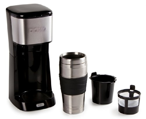 35 61 kaffeemaschine fr 400ml kaffee togo im thermobecher domo do437k schwarz. Black Bedroom Furniture Sets. Home Design Ideas