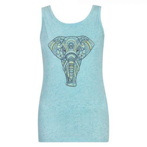 Dare 2b - Camiseta de Tirantes para Mujer, diseño de Elefante, Mujer, DWT448 1J912L, Aruba Blue, M (Talla del Fabricante: 12)
