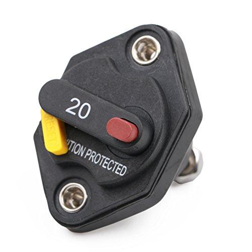 T Tocas Inverter Fusible étanche avec bouton de réinitialisation manuelle 12 V-32vdc 20 à