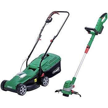 Qualcast Cordless 24v Lawnmower And 24v Grass Trimmer