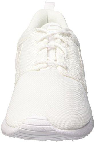 Nike Rosherun (GS) Unisex-Kinder Laufschuhe Bianco (White/White-Wolf Grey)