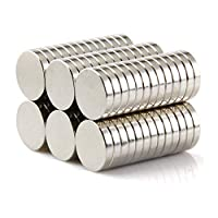 walolo 60 Fridge Magnets Whiteboard Magnets Picture Magnet 10mm*2mm Strong Magnetic Push Pins for Whiteboard (60 PACK)