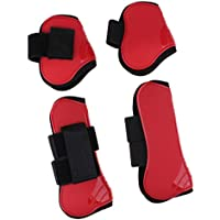 Sharplace Patas de Pierna de Caballo Protección Al Aire Libre Practicá Comodo Ligero Portatíl para Mascota - Rojo