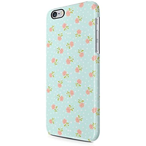 Vintage Floral Flowers Rose Dots Pattern Baby Blue Indie Tumblr Boho Apple iPhone 6 / iPhone 6s Snap-On Hard Plastic Protective Shell Case Cover