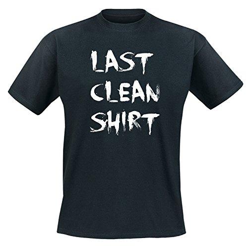 Last clean Shirt - Fun - T-Shirt Herren Schwarz