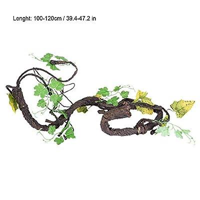 Artificial Reptiles Vine Flexible Bend-A-Branch Jungle Vines Climber Jungle Forest Bend Branch Pet Terrarium Cage Habitat Decor by Zerodis