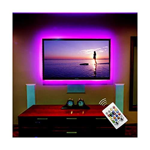 BASON LED TV Hinterhrundbeleuchtung, RGBW Led Strip, LED Streifen für Flaches HDTV, Fernseher Led Beleuchtung Led Leiste mit Fernbedienung, USB Weihnachten Ambilight TV Synchronschalter mit TV.