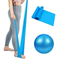 Mabufun Soft Pilates Ball and Resistance Bands Yoga Resistance Elastic Bands for Core Training and Physical Therapy…