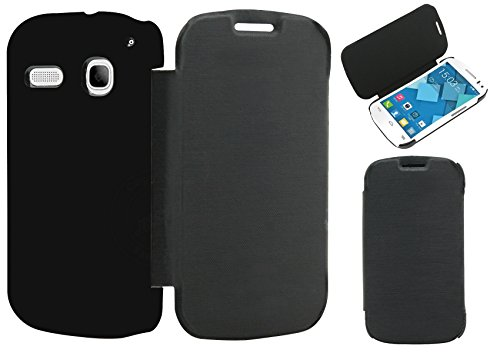 Jkobi® Premium Leather Textured Flip Case Cover For Panasonic T31 -Black  available at amazon for Rs.270