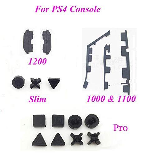 Black Bottom Mat (Ersatz-Gummifüße für Sony PS4 Playstation 4 PS4 Slim & Pro & 1200 & 1100 1000 PS4 1000 - Black)