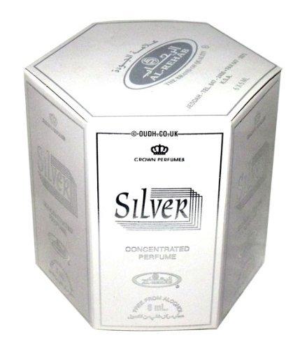 Al Rehab Silver perfume oil - 6 x 6ml by al rehab