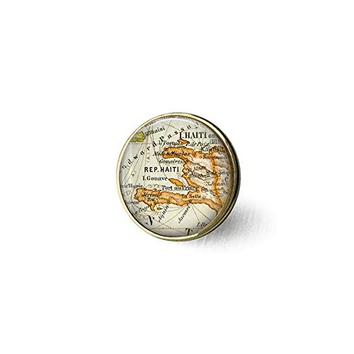 Halskette, Haiti Karibik Landkarte Anhänger, Haiti Karte, Halskette, Kartenschmuck, Geschenk-Brosche, Bibel-Zitat-Anhänger ()