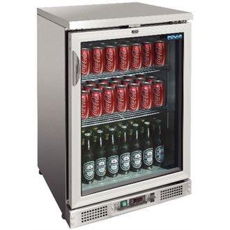 Enfriador expositor de bar acero inoxidable 104 botellas Polar