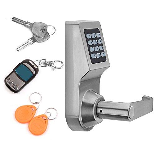 THINK SOGOOD Elektronisches Türschloss Zutrittskontrolle mit Passwort + Fernbedienung + Schlüssel und IC Karte für Handelsbüro und Wohnprojekte
