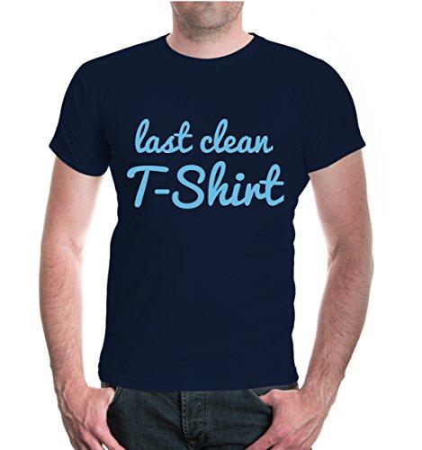 buXsbaum® T-Shirt Last clean T-Shirt Navy-Skyblue