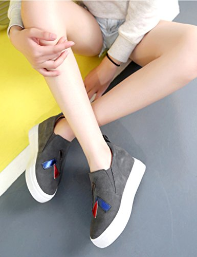 HWF Scarpe donna Primavera femminile aumentata all'interno del fondo spesso  Scarpe da donna Un pedale pigro piatto singolo scarpe casual Colore Bianca  ...