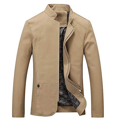 3c4f6e5c83a2 CICIYONER Männer Mode Jacke Herren Herbst Winter Beiläufig Lange Ärmel  Solide Stand Reißverschluss Jacke Oben Bluse