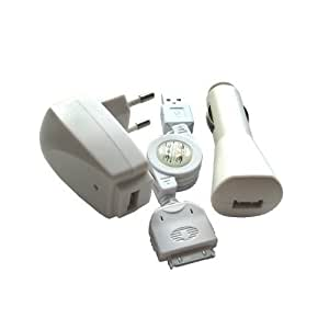 Kit chargeur secteur/allume cigares pour Apple iPod video 5G (30GB, 60GB)