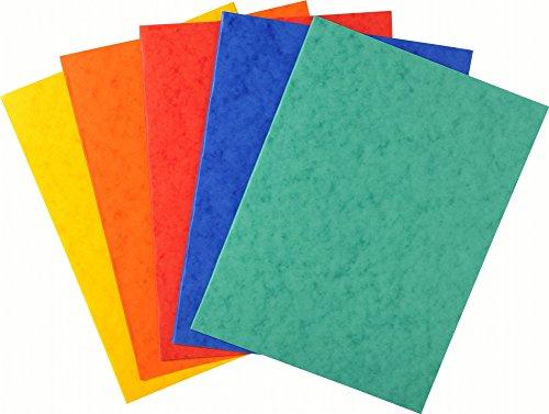Exacompta 220000E Aktendeckeln (Manila-Karton, 225g, DIN A4) 25er Pack zufällige Farbe