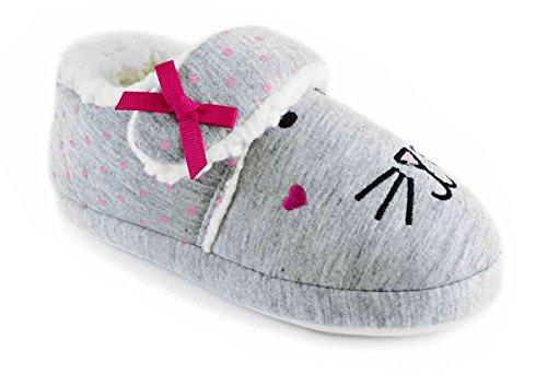 Socks Uwear  SlumberzzZ,  Mädchen Durchgängies Plateau Sandalen mit Keilabsatz Grau