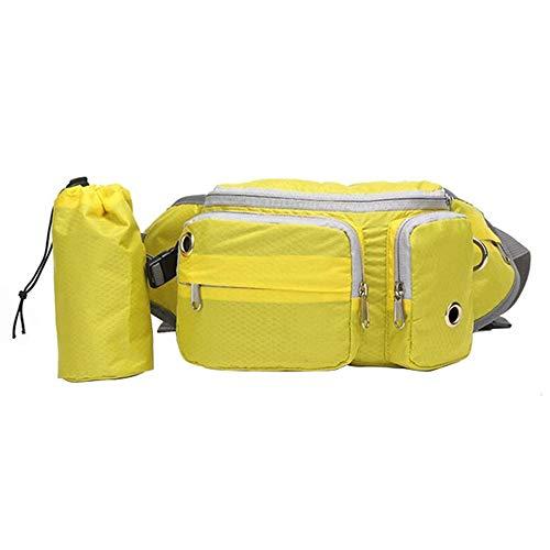 Alxcio Futterbeutel für Hunde, Leckerlitasche Futtertasche Leckerlibeutel mit Poop Tasche Spender für Hundtraining, Gelb