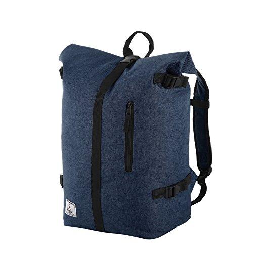 Rada Freizeitrucksack Rolltop RS/79, Daypack für Damen und Herren mit 25 Liter Volumen, wasserabweisender Schulrucksack für Mädchen und Jungen