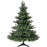 Original Hallerts Spritzguss Weihnachtsbaum Alnwick 150 cm als Nordmanntanne - Christbaum zu 100% in Spritzguss PlasTip Qualität - schwer entflammbar nach B1 Norm, Material TÜV und SGS geprüft - Premium Spritzgusstanne