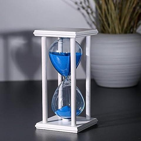 tuzech Stress Kombination Perfekte Geschenk Shop Geburtstag Geschenk Stunde Glas mit Ständer–30Minuten White Body Blue Sand