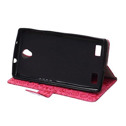 Voguecase® für Apple iPhone 4 4G 4S, Kunstleder Tasche PU Schutzhülle Tasche Leder Brieftasche Hülle Case Cover (My Phone 02) + Gratis Universal Eingabestift magic girl/Rosa