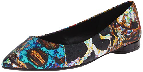 Nine West Onlee Toe Pointy synthétique plat Black/Multi