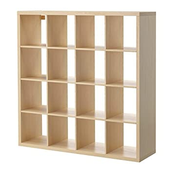 Ikea bücherregal schwarz  IKEA KALLAX Regal Birkenachbildung; (147x147cm); Kompatibel mit ...