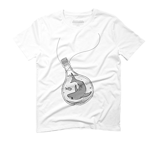 Some Fin Men's 2X-Large White Graphic T-Shirt - Design By Humans