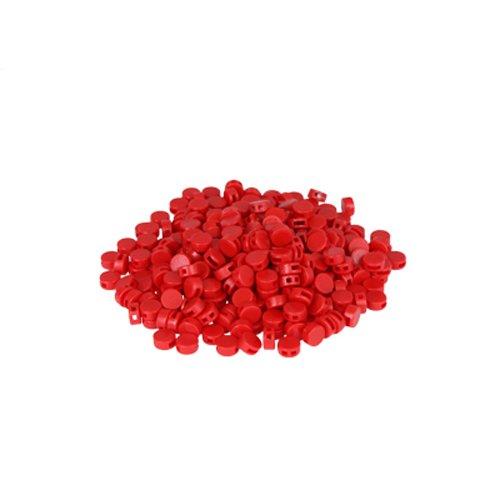 Preisvergleich Produktbild 250 St. Kunststoffplomben rot 8mm - Plomben