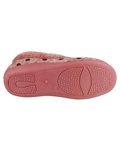 Mirak-Narbonne-Chaussons-ballerines chaussons imitation fourrure pour femme Rose - rose