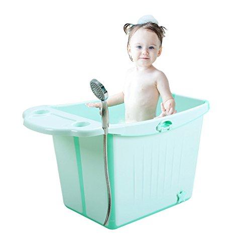 Badewannen mit Belüftung Bidets Faltbare Kinderbadewanne große Babybadewanne Babybadewanne Baby Schwimmen Yongchi (Color : Green, Size : 84 * 49 * 47cm)