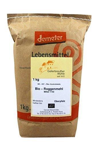 Bio-Roggenmehl mittel 4x1 kg - Demeter Bio Roggenmehl Type 1150